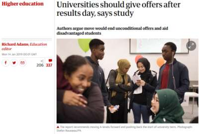 Unconditional UCAS Offers - Is anything changing for prospective University students?