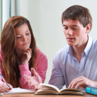Teenage girl having private tuition 2020 05 13