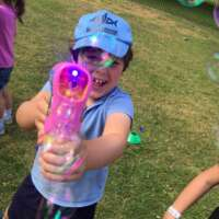 Kid with bubble gun
