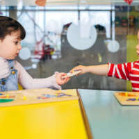 Little kid playing in kindergarten 2020 05 06
