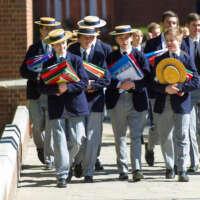 Fave Teenage boys walking at Harrow 2020 05 13