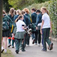 Fave Cheltenham girls walking to lacrosse practise 2020 05 13